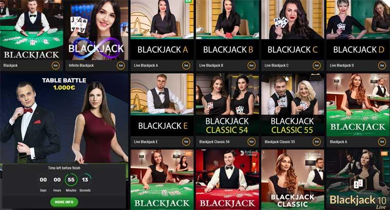 live blackjack spelen bij Betamo